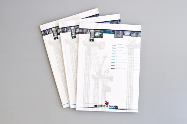 Imagebroschüre für die Bauunternehmung HM