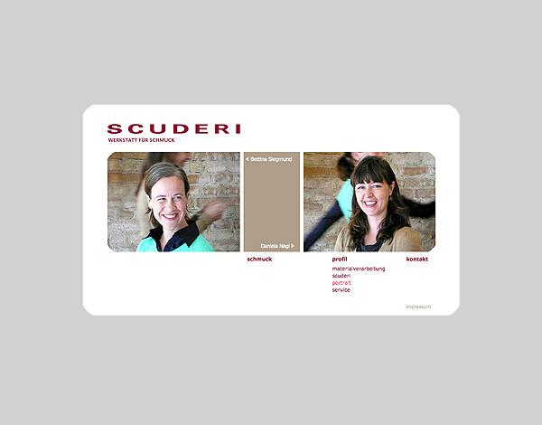 website für SCUDERI – WERKSTATT FÜR SCHMUCK